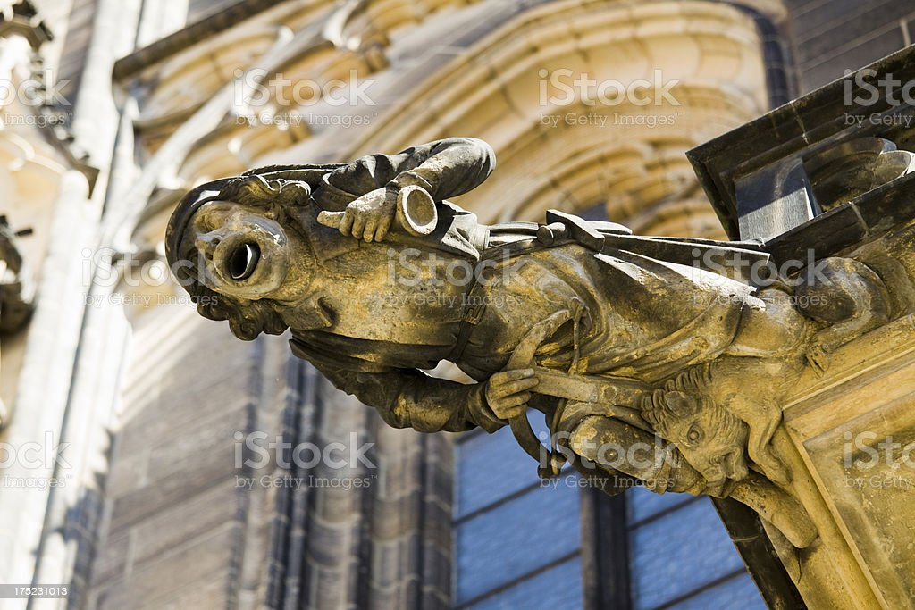 Saint Vitus Gargoyle royalty-free stock photo