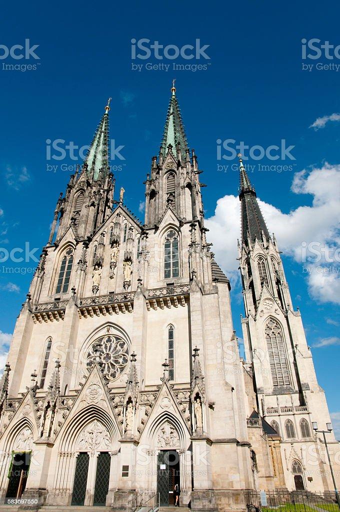 Saint Wenceslas Cathedral - Olomouc - Czech Republic stock photo