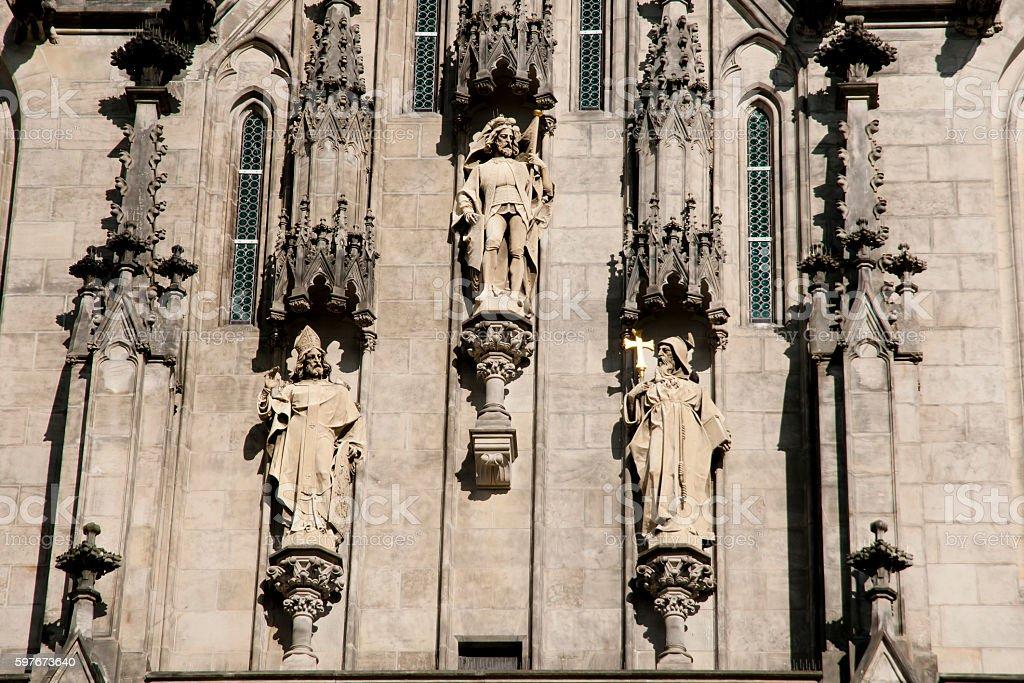 Saint Wenceslas Cathedral Statues - Olomouc - Czech Republic stock photo
