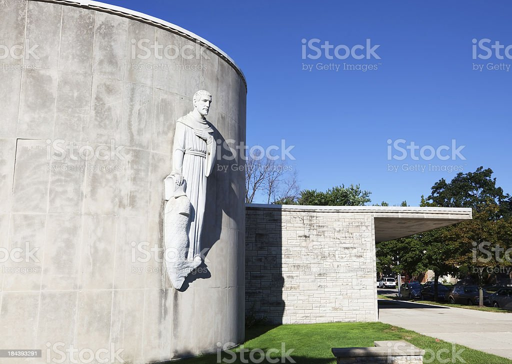 Saint William Church in Montclare, Chicago royalty-free stock photo