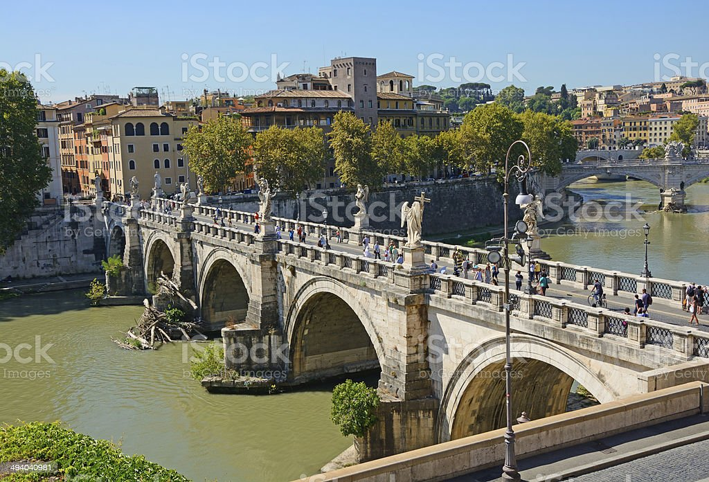 Saint'Angelo Bridge royalty-free stock photo