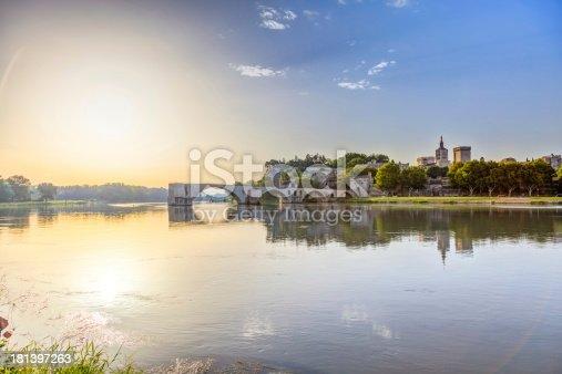 Saint-benezet in southeastern France