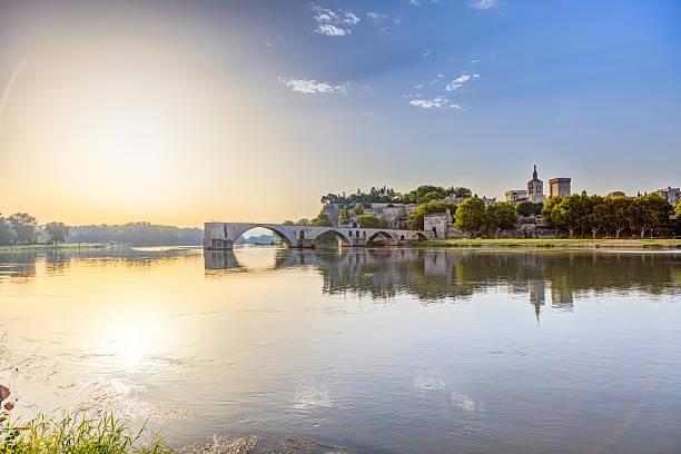 Saint-benezet in southeastern France stock photo