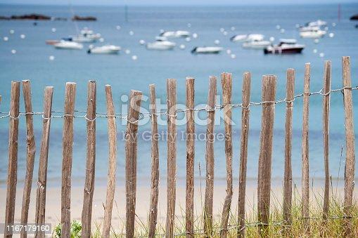 Baai bij Saint-Briac-sur-Me. deze plaats ligt in het noorden van Bretagne in het arrondissement Saint-Malo en ligt aan de Smaragdkust (Côte d'Émeraude).