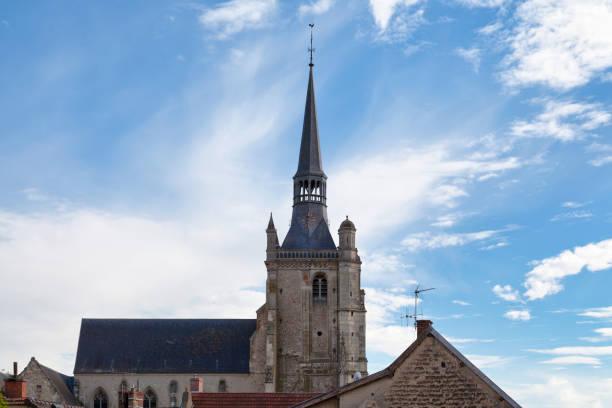 Saint-Brice church in Ay stock photo