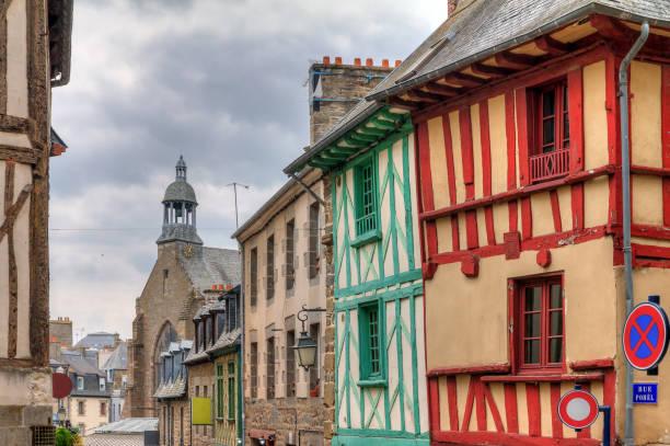 Saint-Brieuc bunte Häuser – Foto
