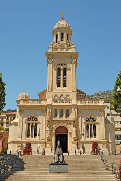 Saint-Charles Church in Monaco stock photo