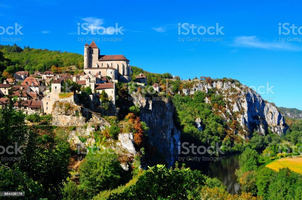 St-Cirq-Lapopie, France stock photo