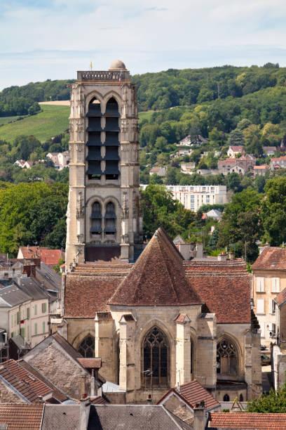 Saint-Crépin church in Château-Thierry stock photo