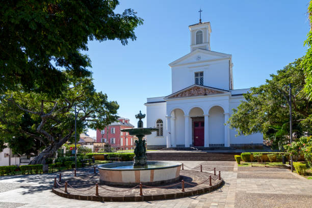 saint-denis cathedral - reunion island - reunion stock photos and pictures
