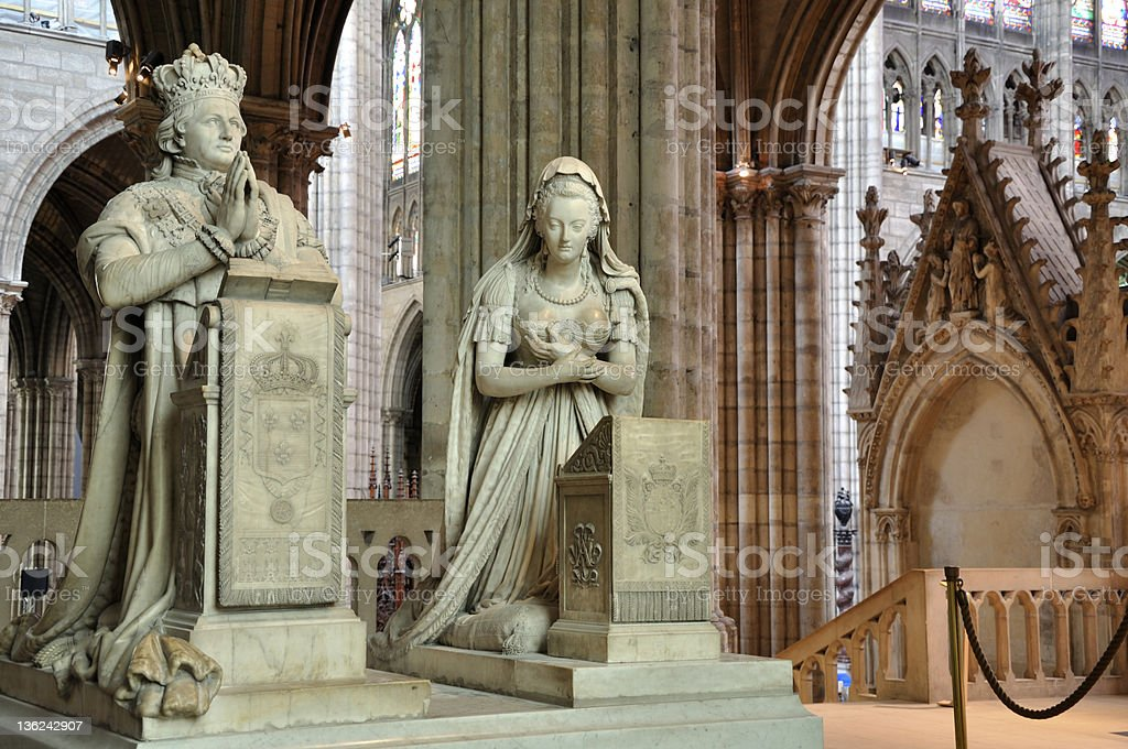 Saint-Denis - King Louis XVI and Queen Marie Antoinette stock photo