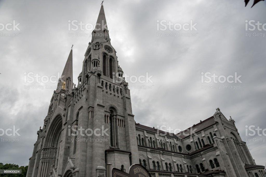 Sainte-Anne de Beaupré Basilica stock photo