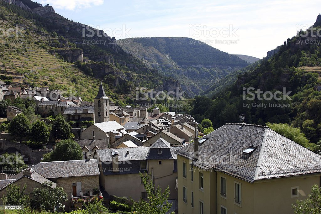 Sainte-Enimie village royalty-free stock photo