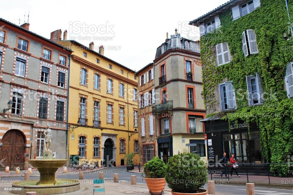 Saintes-Scarbes square, Toulouse, France stock photo