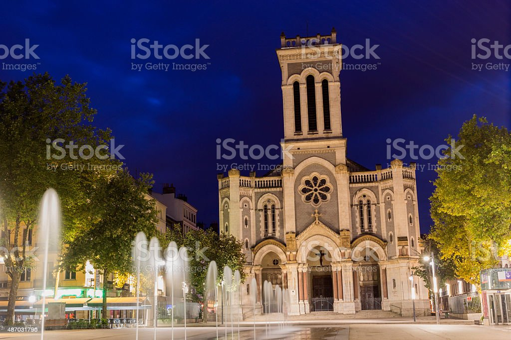 Saint-Etienne Cathedral in France stock photo