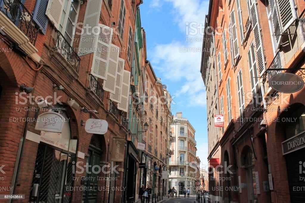 Saint-Etienne historical district, Toulouse, France stock photo