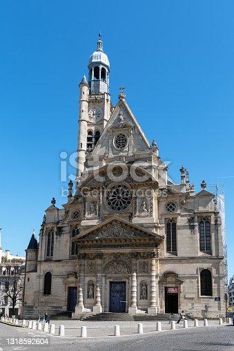 istock Saint-Etienne-du-Mont church in Paris, France 1318592604