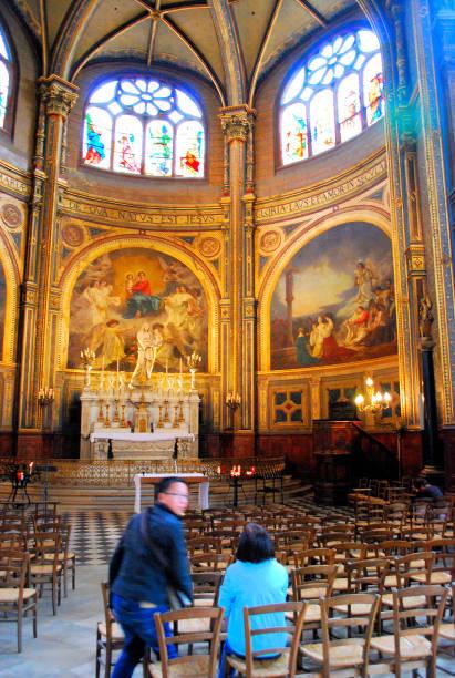 saint-eustache, paris - saint eustache church foto e immagini stock