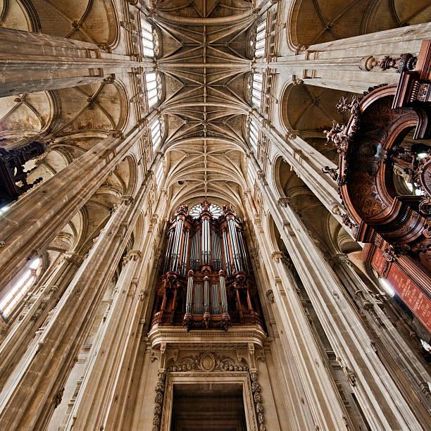 di sant'eustachio, parigi - saint eustache church foto e immagini stock