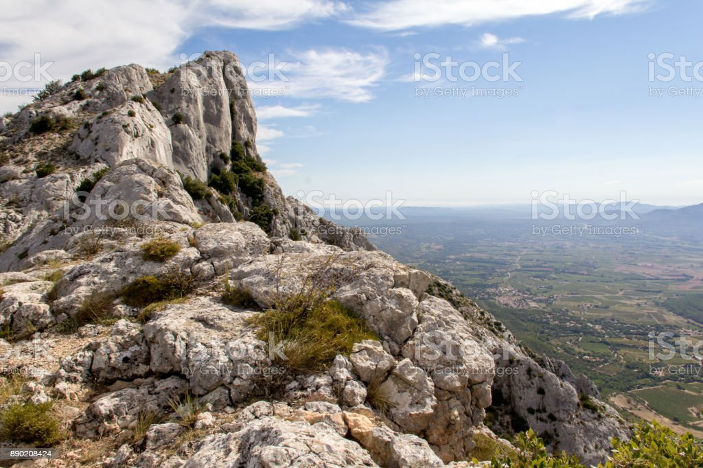 Sainte-Victoire Mountain stock photo
