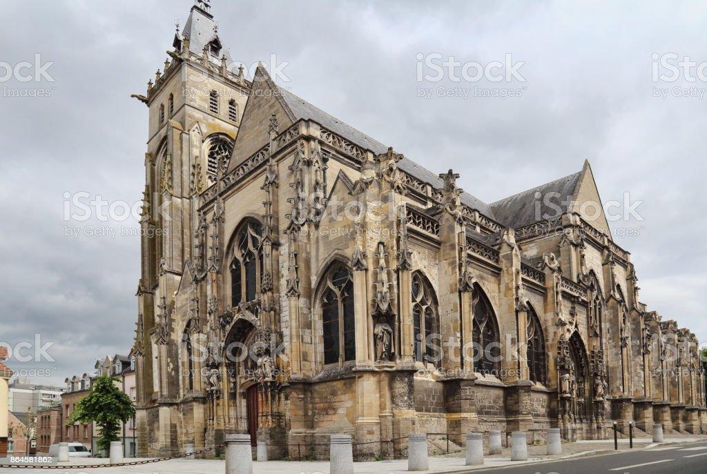 Saint-Germain-l'Ecossais Church of Amiens stock photo