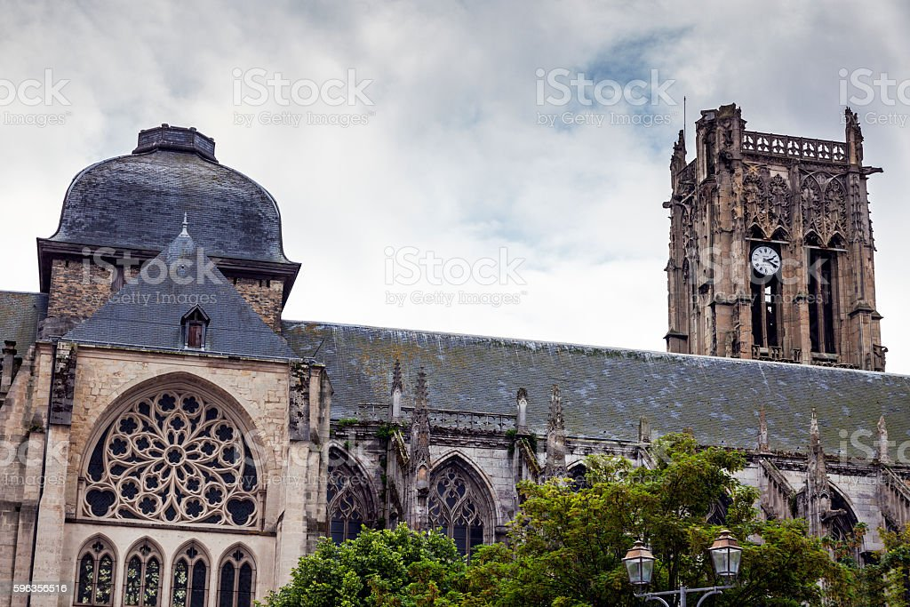 Saint-Jacques Church in Dieppe royalty-free stock photo