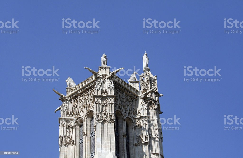 Saint-Jacques Tower detail stock photo