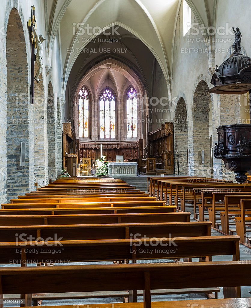 Saint-Jean-de-Maurienne, France. In the Cathedral stock photo