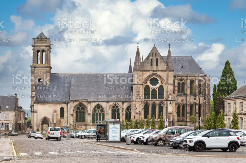 Saint-Léger Abbey in Soissons - Royalty-free Abbey - Monastery Stock Photo