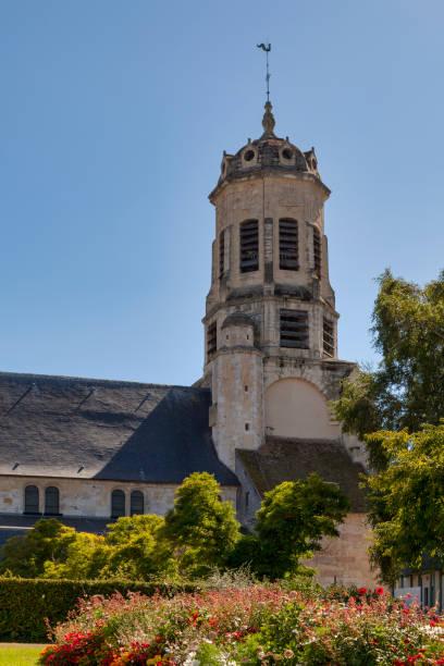 Saint-Léonard Church in Honfleur stock photo