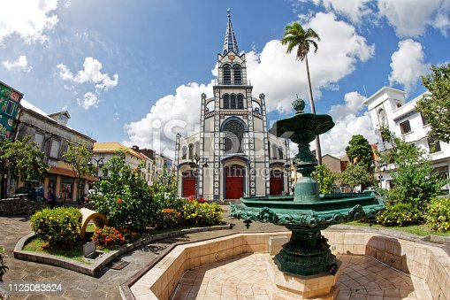 Saint-Louis cathedral, Fort-de-France, Martinique FWI