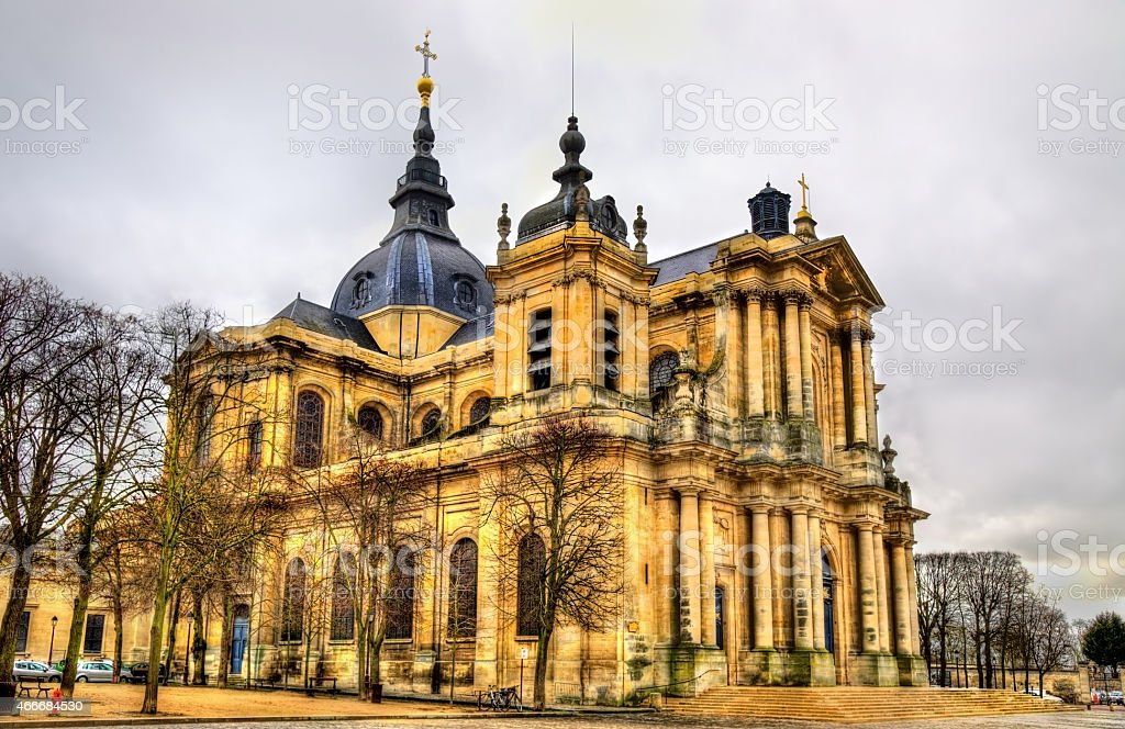 Saint-Louis Cathedral of Versailles - France stock photo