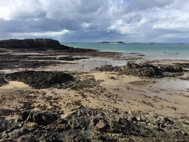 Saint-Malo Beach stock photo