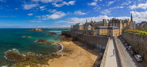 Saint-Malo - Brittany France stock photo