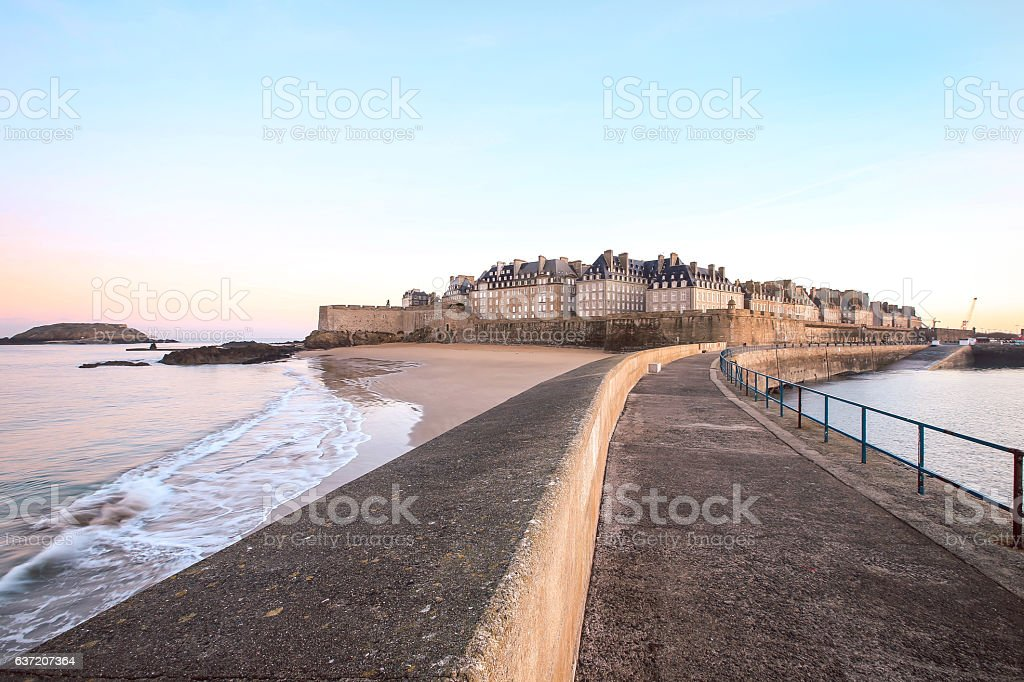 Saint-Malo in Britanny - France stock photo