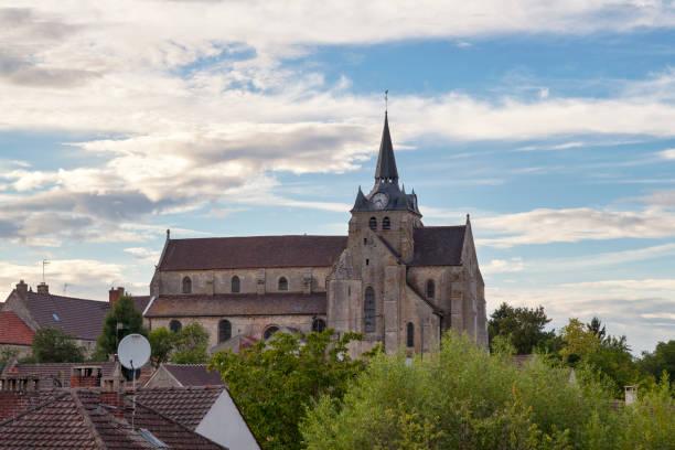 Saint-Martin church in Mareuil-sur-Ourcq stock photo
