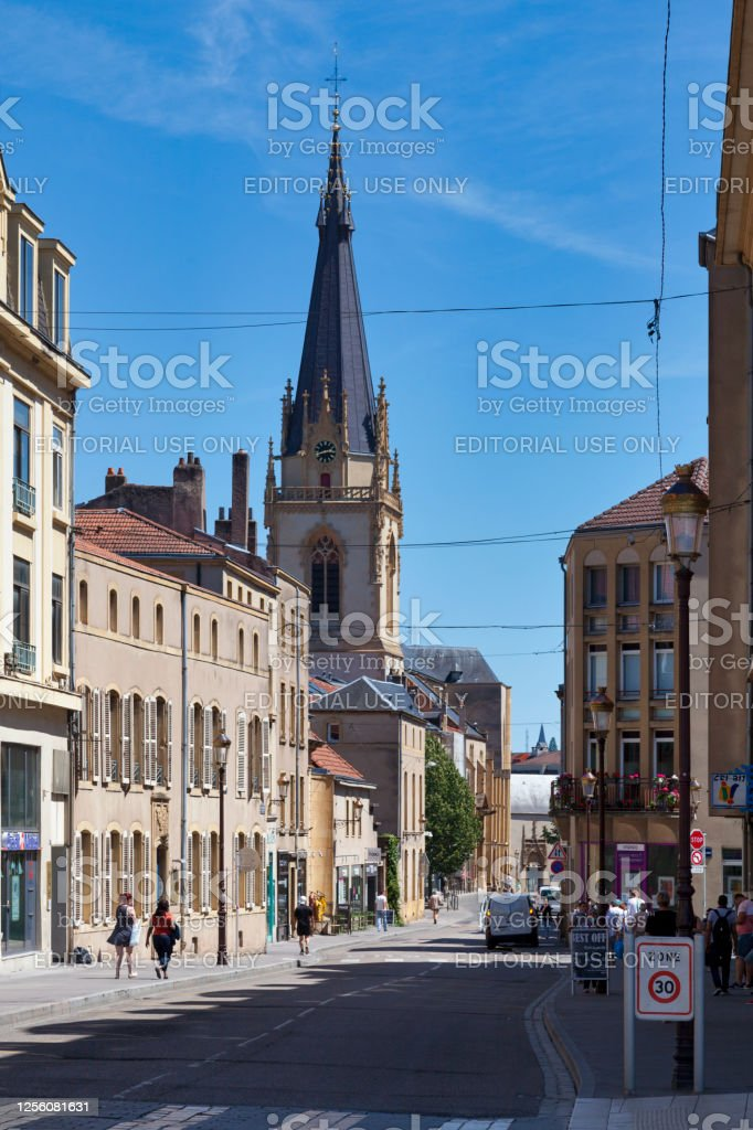 Saint-Martin church in Metz Metz, France - June 24 2020: The Saint-Martin church is one of the oldest Catholic church and parish in Metz. It is located in the Metz-Center district. Architecture Stock Photo