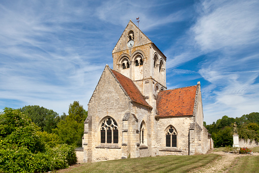 Saintmartin Church In Montignylallier Stock Photo - Download Image Now