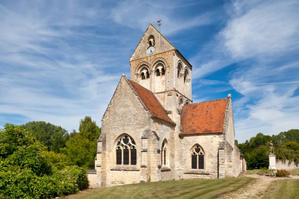 Saint-Martin Church in Montigny-l'Allier stock photo