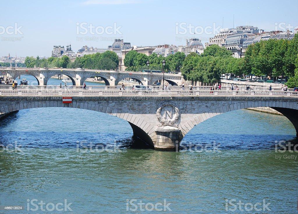 Saint-Michael Bridge (Pont Napoleon) stock photo