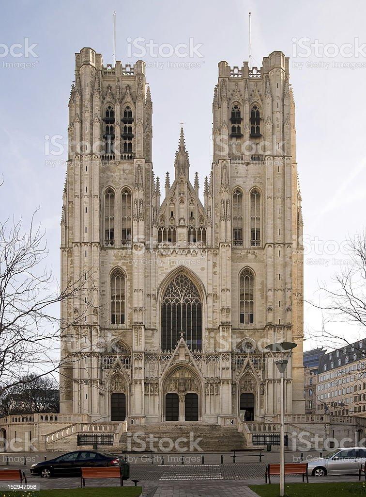 Saint-Michel et Sainte-Gudule stock photo
