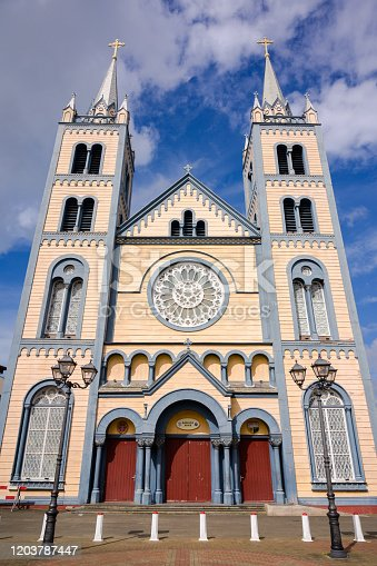 Monumental late-19th-century cathedral, one of the largest wooden structures in the Caribbean