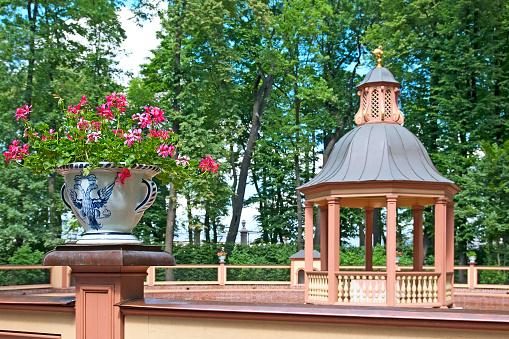 Saint-Petersburg. Russia. Menagerie Pond Bosquet