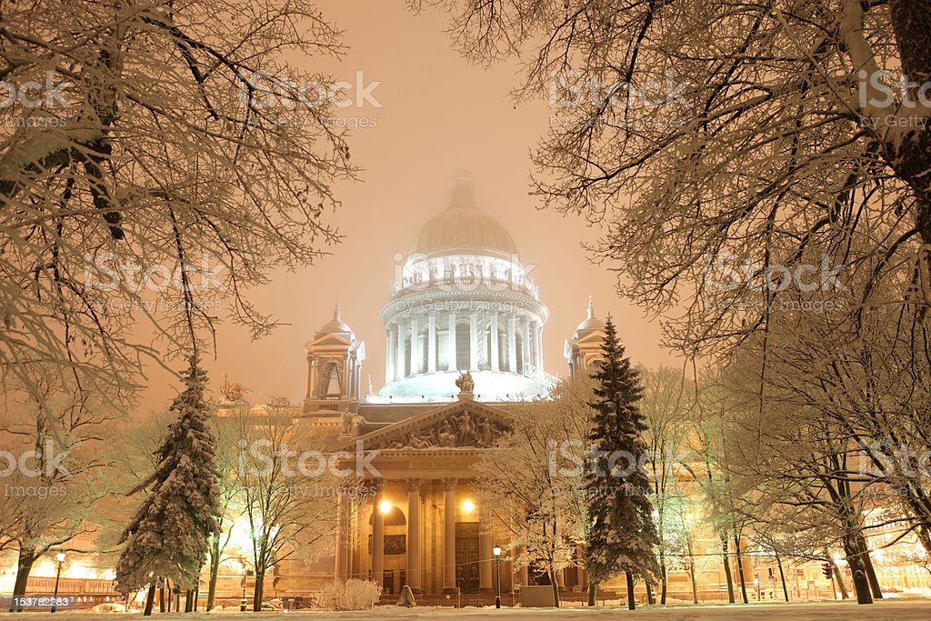 Saint-Petersburgs isaac cathedral royalty-free stock photo