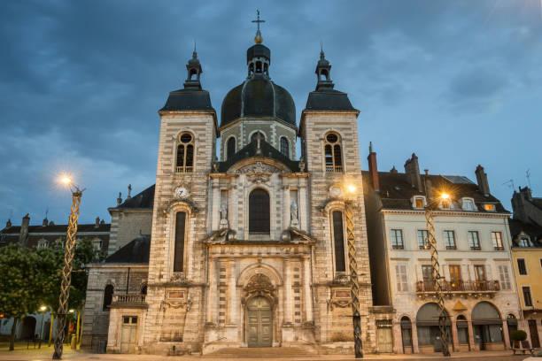 Saint-Pierre Church in Chalon-sur-Saone stock photo