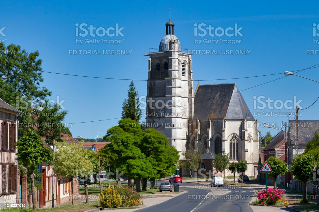Saint-Pierre church in Esquennoy - Royalty-free Ancient Stock Photo