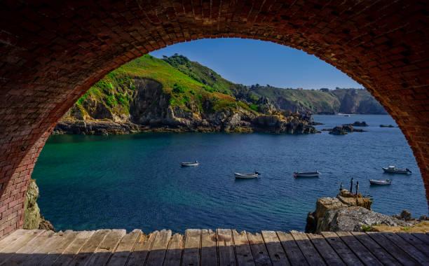 Saints Bay Harbour in Guernsey, UK