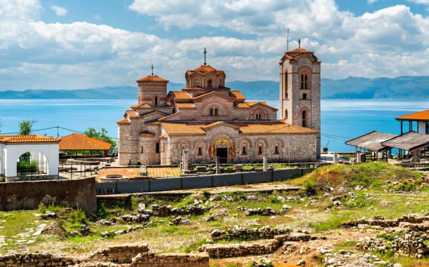 Kirche der Heiligen Clemens und Panteleimon in Plaosnik in Nordmakedonien – Foto