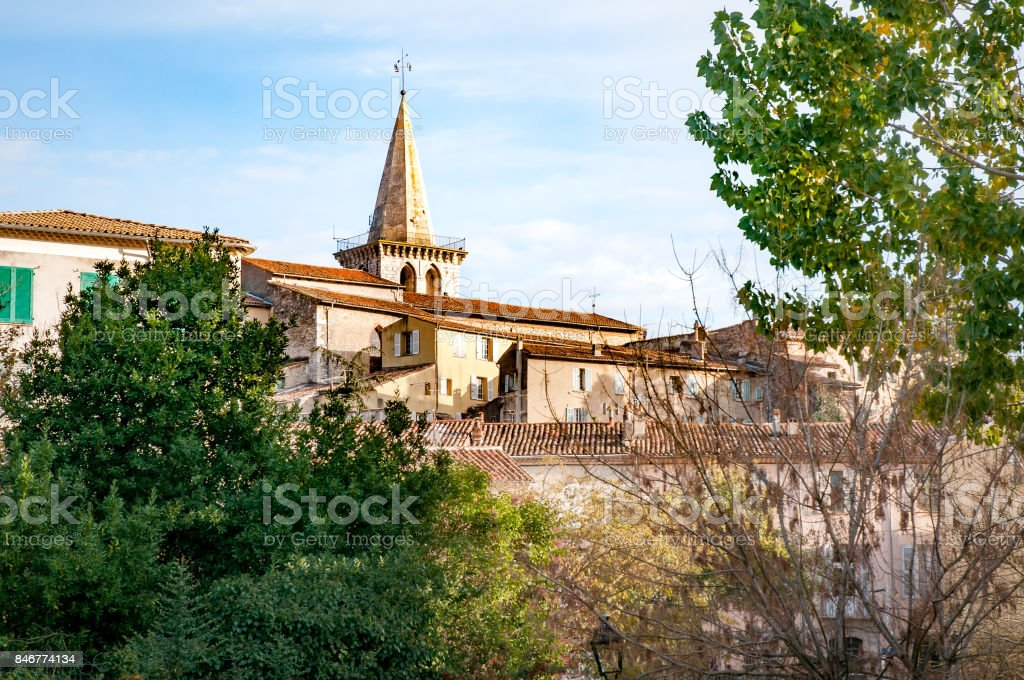 Saint-Sauveur Church in Brignoles, France stock photo