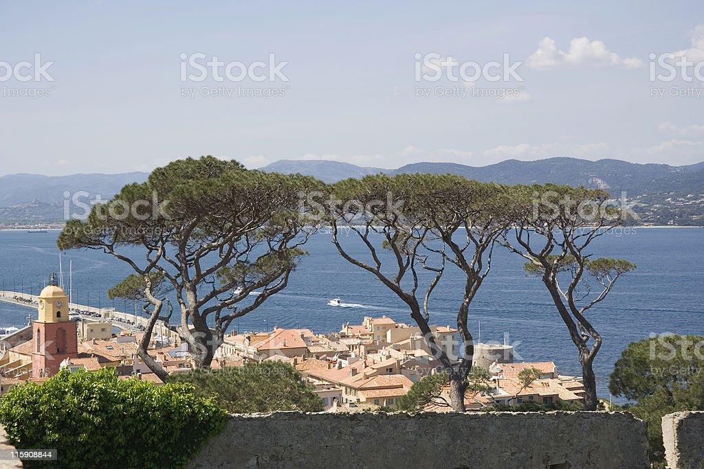 saint-tropez and the mediterranean sea royalty-free stock photo